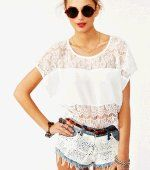 Check out LoveItSoMuch.com to discover unique products like Sweet Lace Tee in  Clothes Tops at Nasty Gal.