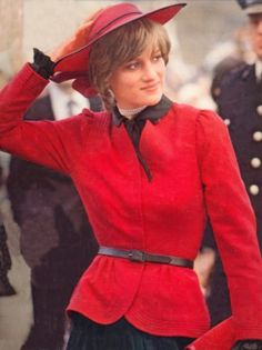 1981 Oct 27th First visit to Caernarvon Castle as Princess of Wales