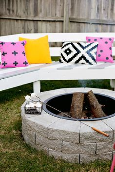 DIY Outdoor Fire Pit Tutorial