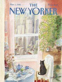 "The New Yorker - Monday, March 1, 1982 - Issue # 2976 - Vol. 58 - N° 2 - Cover by : ""Sempé"" - Jean-Jacques Sempé"