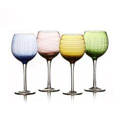 Fifth Avenue Crystal 4 Piece Sarah Wine Glass Set