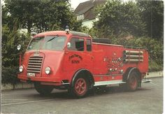 Playle's: Vintage Fire Engines on Postcards GERMANY - 1952 KRUPP ...