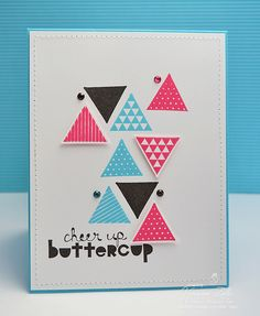 Trendy Tringles using Stampin' Up! Geometrical and matching punch.