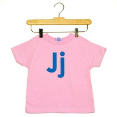 Fab.com | Letter J Tee Pink