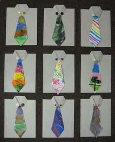 """Fathers day cards with hand painted ties. From Teach Kids Fathers day cards with hand painted ties. From Teach Kids Art."""" data-componentTy… Fathers day cards with hand painted ties. From Teach Kids Art. Fathers Day Art, Fathers Day Crafts, Art For Kids, Crafts For Kids, Arts And Crafts, Dad Crafts, Kindergarten Projects, Father's Day Diy, Dad Day"""