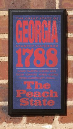 The State of Georgia Vintage Style Wall Plaque. $27.00, via Etsy.