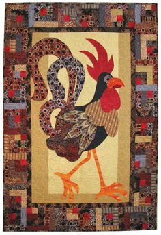 Jaunty Rooster / Free Pattern from Benartex