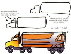 How to draw a BIG truck