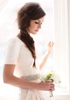 Pretty Bridal Fishtail Braid Style