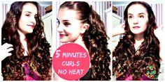 5 Minutes NO HEAT Curls - Easy Curls For Long Hair - Crix Tutorials