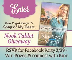 Song of My Heart by Kim Vogel Sawyer | Nook Tablet Giveaway, Facebook Book Chat Party and Blog Tour