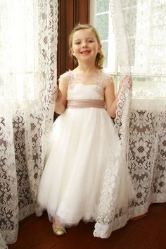 39db249e87fd 50 Dress Ideas For Our Cute Flower Girls For Wedding Girls Lace Dress, Lace  Flower