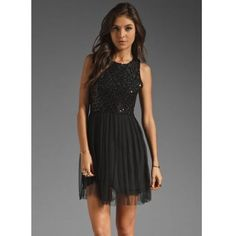 Holiday Little Black Sequin Dress