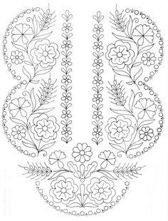 Embroidery Works Motifs Folk Art Flowers Flower Scandinavian Printable Pattern Country Paintings Line