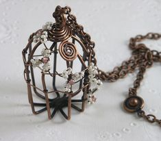 Copper Wire Birdcage! Must make! I love bird cages!! :D