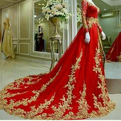 3 this red and gold bridal lehenga with that stunning train ...