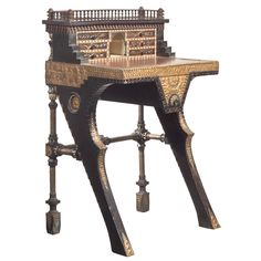 Carlo Bugatti Writing Desk | From a unique collection of antique and modern desks and writing tables at http://www.1stdibs.com/furniture/tables/desks-writing-tables/