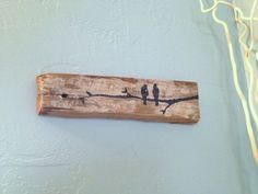 Love Birds on Branch~ Rustic Upcycled Barn board wood Wall Decor- Reclaimed Wood sign- Shabby chic Decor, Black Birds on White washed board Reclaimed Wood Signs, Reclaimed Wood Projects, Wooden Signs, Salvaged Wood, Branch Decor, Wood Wall Decor, Bois Diy, Bird On Branch, Pallet Art