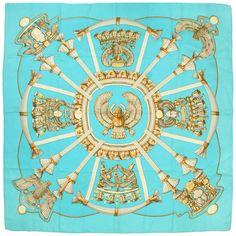 "Auth Hermes ""Egypte Scarabees Et Pectoraux"" Vtg Silk Scarf by Caty Latham 35"" | eBay"
