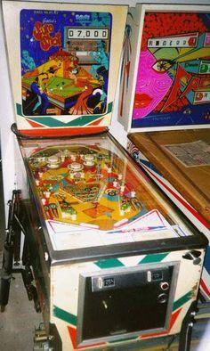 "1976 Sure Shot ""Gottlieb"" Pinball Machine Pinball Wizard, Wizards, Arcade Games, Console, Video Game, Nostalgia, Coins, Cabinet, Retro"