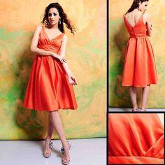 Cheap Orange Bridesmaid Dresses