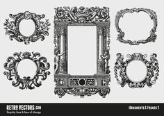 Vintage Ornamental and Decorative Frames | Vintage Vectors | Royalty Free | Free of Charge | Commercial Use | Free Retro Vectors
