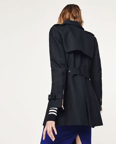 Image 3 of COTTON TRENCH COAT from Zara