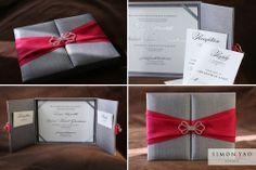 Folio-style invitation  simonyao.com  #weddinginvitation  Columbus Ohio Wedding Photographer