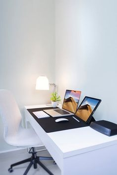Having trouble focusing in your home office? Here are amazing decor ideas that will help you turn your home office design into a beautiful home workspace where you can comfortably focus on work. Home Decor Trends, Home Decor Styles, Home Decor Accessories, Cheap Home Decor, Decor Ideas, Decorating Ideas, Home Office Design, Home Office Decor, Office Set