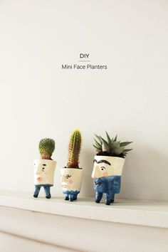 I can't tell you how hard it was to name this DIY project but there it is, DIY Mini Face Planters! I was trying very hard to stay away from names like Pot Heads or Pot People but these guys are charming little people. They're plants with personality! While I was shopping recently, I picked …