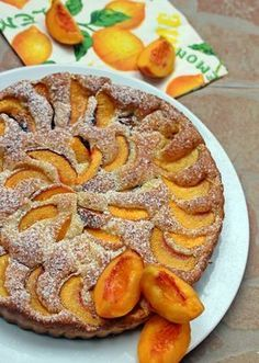 Barackos kevert pite Hungarian Desserts, Hungarian Recipes, Fruit Recipes, Cake Recipes, Cooking Recipes, Looks Yummy, Cakes And More, Apple Pie, Bakery