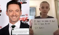 Hugh Jackman gives support to girl's anti-bullying plea