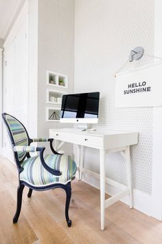 Andria Fromm Interiors (House of Turquoise) Home Office Chairs, Home Office Decor, Home Decor, Office Ideas, Office Furniture, Workspace Design, Home Office Design, Office Designs, Folding Lounge Chair