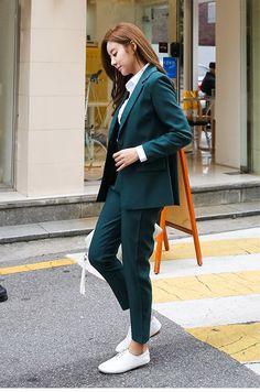 Power suit your way to that job with this beautiful women's pants suit for that added confidence Womens Power Suit, Homecoming Suits, Pantsuits For Women, Dressing, Pants For Women, Clothes For Women, Professional Outfits, Suit Fashion, Business Women