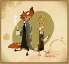 Byron Howard - Early Zootopia concept ★ || CHARACTER DESIGN REFERENCES…
