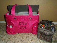 For my scrap booking friends! Zip-Top Organizing Utility Tote and Littles Carry-All Caddy