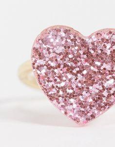 ASOS DESIGN - Guldfarvet ring med lyserødt glitter-hjerte   ASOS Asos, Ring Designs, Heart Ring, Glitter, Gold, Stuff To Buy, Jewelry, Style, Ring