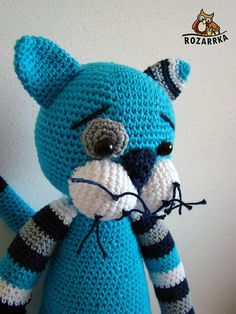 Pattern to buy £1 - instructions crocheted Kocur (about 43 cm)