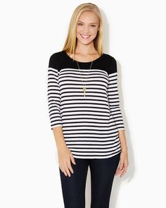 BASICS AT charming charlie | Knit Now Everyday Top | UPC: 3000635234 #charmingcharlie