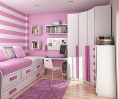 Breathtaking Room Design Ideas Round Up: Nice Purple White Bedroom Interior Decorating Idea Mixed With Recessed Light Also Laminate Floor Idea ~ inotfat.com Interior Inspiration