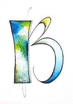 Textured Letters - B by Cheryl Bakke Martin