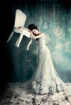 """""""Lady in The Attic"""" for Amato Haute Couture Campaign   Photographer: Tina Patni"""