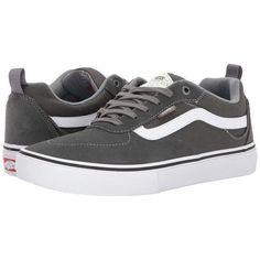 Vans Kyle Walker Pro (Gunmetal/White) Men's Skate Shoes (£53) ❤ liked on Polyvore featuring men's fashion, men's shoes, men's sneakers, mens white shoes, mens sneakers, vans mens shoes, mens white sneakers and mens skate shoes #sneakersvans