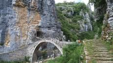 Kalogeriko Bridge, Kipi - the abundance of canyons in this area means the people of Zagori have long been expert bridge builders. Stretching 56m, this three part stone bridge has a reputation as the most beautiful,