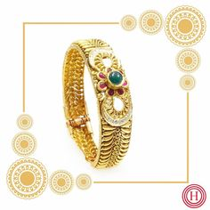 Latest Gold Bangle Designs India Jewelry, Gold Jewelry, Jewellery, Gold Kangan, Gold Bangles Design, Antique Gold, Antiques, Bracelets, Instagram Posts