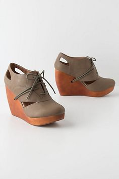 Exsect Lace-Up Wedges - Anthropologie.com