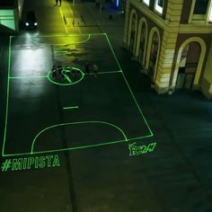 quite sure where to put this Pin via Chuah Pop-Up City - Nike Launches On-Demand Laser Beam Street Football Pitch. Can you imagine what other pop up installations could happen like this? Chess boards, Snakes and ladders etc