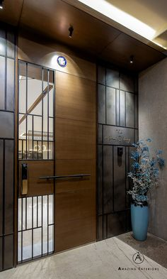 A Deluxe Lodging – Apartment Interiors - Modern Modern Entrance Door, Main Entrance Door Design, House Entrance, Entrance Doors, House Main Door, Apartment Entrance, Door Grill, Grill Door Design, Apartment Interior