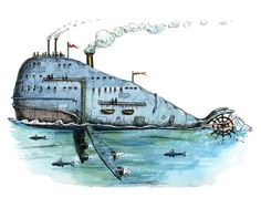 Steamboat Whale #Steampunk