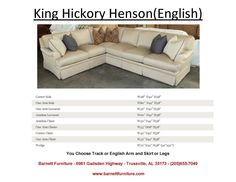 King Hickory Henson Sectional with an English Arm and Skirt. You Choose the Fabric - You Choose the pieces to fit your room.